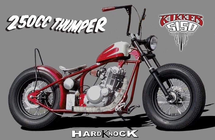 Welcome to the Home of the Original Hardknock Bobber by Kikker5150 TMKikker 5150 Hardknock Bobber motorcycle and parts by Kikker5150